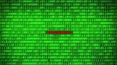 fingerprint : Wall of Green Binary Code Revealing PROGRAMMING Word Between Random Binary Data Matrix Background