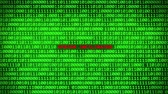 fingerprint : Wall of Green Binary Code Revealing SYSTEM INFILTRATED Word Between Random Binary Data Matrix Background