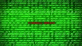 fingerprint : Wall of Green Binary Code Revealing VIRUS PROTECTION Word Between Random Binary Data Matrix Background