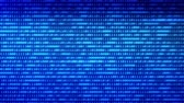 осторожность : Digital technologies Blue Binary code random num Стоковые видеозаписи