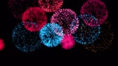 brasileiro : Firework Display - concept of completion on dark black sky of any holiday Chinese new year, New year, Christmas, wedding, birthday, Valentines day, Thanksgiving, independence day