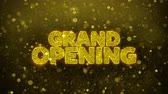 официальный : Grand Opening Greetings card Abstract Blinking Golden Sparkles Glitter Firework Particle Looped Background. Gift, card, Invitation, Celebration, Events, Message, Holiday, Festival. 2