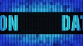 шифрование : Data Protection Front Text Scrolling on Light Blue Digital LED Display Board Pixel Light Screen Looped Animation 4K Background. Sign Board , Blinking Light, Pixel Monitor, LED Wall Pannel
