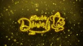 biglietto auguri : Shubh Happy Diwali Greetings card Abstract Blinking Golden Sparkles Glitter Firework Particle Looped Background. Gift, card, Invitation, Celebration, Events, Message, Holiday, Festival
