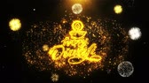 Индия : Happy Diwali Diya Text Sparks Particles Reveal from Golden Firework Display explosion 4K. Greeting card, Celebration, Party Invitation, calendar, Gift, Events, Message, Holiday, Wishes Festival