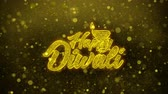 diwali : Shubh Happy Diwali Greetings card Abstract Blinking Golden Sparkles Glitter Firework Particle Looped Background. Gift, card, Invitation, Celebration, Events, Message, Holiday, Festival