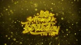 giftcard : 80ste Happy Birthday Greetings-kaart Abstract knipperen Golden Sparkles Glitter vuurwerk deeltje lus achtergrond. Geschenk, kaart, Uitnodiging, Viering, Evenementen, Bericht, Feestdagen, Festival