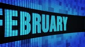 защитник : February Side Text Scrolling on Light Blue Digital LED Display Board Pixel Light Screen Looped Animation 4K Background. Sign Board , Blinking Light, Pixel Monitor, LED Wall Pannel