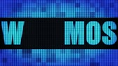 manjericão : MOSCOW Front Text Scrolling on Light Blue Digital LED Display Board Pixel Light Screen Looped Animation 4K Background. Sign Board , Blinking Light, Pixel Monitor . LED Wall Pannel
