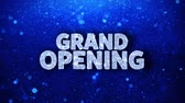 brzy : Grand Opening Blue Text Greetings card Abstract Blinking Sparkle Glitter Particle Looped Background. Gift, card, Invitation, Celebration, Events, Message, Holiday Festival Dostupné videozáznamy