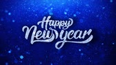 с Новым годом : Happy New Year Greetings card Abstract Blinking Sparkle Glitter Particle Looped Background. Gift, card, Invitation, Celebration, Events, Message, Holiday Festival