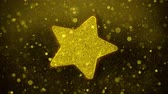 ランク : Star Icon Golden Glitter Glowing Lights Shine Particles. Object, Shape, Web, Design, Element, symbol 4K Loop Animation.