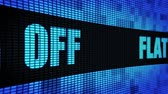 неделя : Flat 60% Percent Off Side Text Scrolling on Light Blue Digital LED Display Board Pixel Light Screen Looped Animation 4K Background. Sign Board , Blinking Light, Pixel Monitor, LED Wall Pannel Стоковые видеозаписи