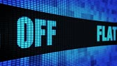 неделя : Flat 35% Percent Off Side Text Scrolling on Light Blue Digital LED Display Board Pixel Light Screen Looped Animation 4K Background. Sign Board , Blinking Light, Pixel Monitor, LED Wall Pannel Стоковые видеозаписи