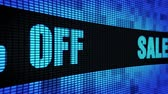 offerta : Sale 45% Percent Off Side Text Scrolling on Light Blue Digital LED Display Board Pixel Light Screen Looped Animation 4K Background. Sign Board , Blinking Light, Pixel Monitor, LED Wall Pannel