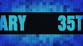35th Anniversary Front Text Scrolling on Light Blue Digital LED Display Board Pixel Light Screen Looped Animation 4K Background. Sign Board , Blinking Light, Pixel Monitor, LED Wall Pannel Vídeos