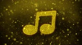 compositor : Music Song Chord Icon Golden Glitter Glowing Lights Shine Particles. Object, Shape, Web, Design, Element, symbol 4K Loop Animation.