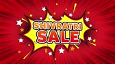 ヘッダー : Shivratri Sale Text Pop Art Style Expression. Retro Comic Bubble Expression Cartoon illustration, Sale, Discounts, Percentages, Deal, Offer on Green Screen 動画素材