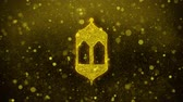 聖なる : Islamic, islam, religious, Monument, Monuments Icon Golden Glitter Glowing Lights Shine Particles. Object, Shape, Web, Design, Element symbol 4K Loop Animation