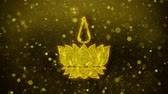 聖なる : Religious symbol Ayyavazhi symbolism Icon Golden Glitter Glowing Lights Shine Particles. Object, Shape, Web, Design, Element, symbol 4K Loop Animation.