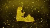 hattı : Dua,namaz,praying,islam,islamic Icon Golden Glitter Glowing Lights Shine Particles. Object, Shape, Web, Design, Element symbol 4K Loop Animation