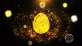 casca de ovo : Egg Icon on Firework Display Explosion Particles. Object, Shape, Text, Design, Element, Symbol 4K Animation.