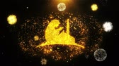medio oriente : Dua,namaz,praying,islam,islamic Icon on Firework Display Explosion Particles. Object, Shape, Text, Design Element Symbol 4K Animation
