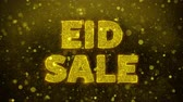 ksi����yc : Eid Sale Text Golden Glitter Glowing Lights Shine Particles. Sale, Discount Price, Off Deals, Offer promotion offer percent discount ads 4K Loop Animation.