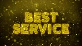 gutschein : Bester Service-Text Golden Glitter Glowing Lights Shine Particles. Sale, Discount Price, Off Deals, Angebot Promotion Angebot Prozent Rabatt Anzeigen 4K Loop Animation. Videos