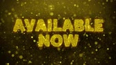novo : Available Now Text Golden Glitter Glowing Lights Shine Particles. Sale, Discount Price, Off Deals, Offer promotion offer percent discount ads 4K Loop Animation.