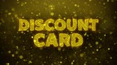 граница : Discount Card Text Golden Glitter Glowing Lights Shine Particles. Sale, Discount Price, Off Deals, Offer promotion offer percent discount ads 4K Loop Animation.