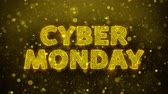 décembre : Cyber Monday Text Golden Glitter Glowing Lights Shine Particles. Sale, Discount Price, Off Deals, Offer promotion offer percent discount ads 4K Loop Animation. Vidéos Libres De Droits