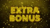 бонус : Extra Bonus Text Golden Glitter Glowing Lights Shine Particles. Sale, Discount Price, Off Deals, Offer promotion offer percent discount ads 4K Loop Animation.