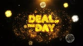 kupon : Deal Of The Day Text on Firework Display Explosion Particles. Sale, Discount Price, Off Deals, Offer promotion offer percent discount ads 4K Loop Animation.