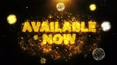 novo : Available Now Text on Firework Display Explosion Particles. Sale, Discount Price, Off Deals, Offer promotion offer percent discount ads 4K Loop Animation. Stock Footage