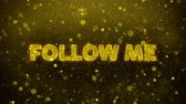 comique : Follow Me Text Golden Glitter Glowing Lights Shine Particles. Sale, Discount Price, Off Deals, Offer promotion offer percent discount ads 4K Loop Animation. Vidéos Libres De Droits