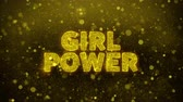 altoparlante : Girl Power Text Golden Glitter Glowing Lights Shine Particles. Sale, Discount Price, Off Deals, Offer promotion offer percent discount ads 4K Loop Animation.