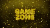 impaginazione : Game zone Text Golden Glitter Glowing Lights Shine Particles. Sale, Discount Price, Off Deals, Offer promotion offer percent discount ads 4K Loop Animation.