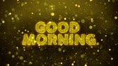 impaginazione : Good Morning Text Golden Glitter Glowing Lights Shine Particles. Sale, Discount Price, Off Deals, Offer promotion offer percent discount ads 4K Loop Animation.