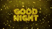 夜遊び : Good Night Text Golden Glitter Glowing Lights Shine Particles. Sale, Discount Price, Off Deals, Offer promotion offer percent discount ads 4K Loop Animation. 動画素材