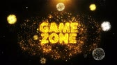 レタリング : Game zone Text on Firework Display Explosion Particles. Sale, Discount Price, Off Deals, Offer promotion offer percent discount ads 4K Loop Animation. 動画素材