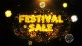 brožura : Festival Sale Text on Firework Display Explosion Particles. Sale, Discount Price, Off Deals, Offer promotion offer percent discount ads 4K Loop Animation.