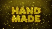 impaginazione : Hand Made Text Golden Glitter Glowing Lights Shine Particles. Sale, Discount Price, Off Deals, Offer promotion offer percent discount ads 4K Loop Animation.