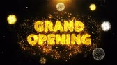gran apertura : Grand Opening Text on Firework Display Explosion Particles. Sale, Discount Price, Off Deals, Offer promotion offer percent discount ads 4K Loop Animation.
