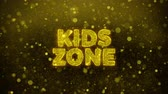 робота : Kids zone Text Golden Glitter Glowing Lights Shine Particles. Sale, Discount Price, Off Deals, Offer promotion offer percent discount ads 4K Loop Animation.