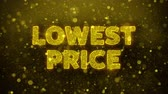 gwarancja : Lowest Price Text Golden Glitter Glowing Lights Shine Particles. Sale, Discount Price, Off Deals, Offer promotion offer percent discount ads 4K Loop Animation.