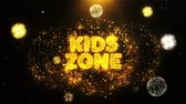 граница : Kids zone Text on Firework Display Explosion Particles. Sale, Discount Price, Off Deals, Offer promotion offer percent discount ads 4K Loop Animation. Стоковые видеозаписи