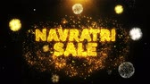Бенгалия : Navratri Sale Text on Firework Display Explosion Particles. Sale, Discount Price, Off Deals, Offer promotion offer percent discount ads 4K Loop Animation.