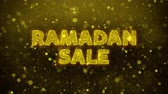 ksi����yc : Ramadan Sale Text Golden Glitter Glowing Lights Shine Particles. Sale, Discount Price, Off Deals, Offer promotion offer percent discount ads 4K Loop Animation.