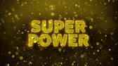 comique : Super Power Text Golden Glitter Glowing Lights Shine Particles. Sale, Discount Price, Off Deals, Offer promotion offer percent discount ads 4K Loop Animation.